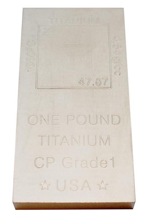Amazon Titanium Bar Paperweight 1lb Bar 999 Pure Chemistry