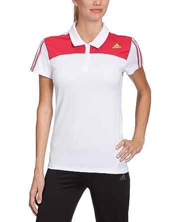 adidas - Camiseta de pádel para mujer, tamaño XS, color blanco/bright rosa f12 / lab lime f12: Amazon.es: Deportes y aire libre