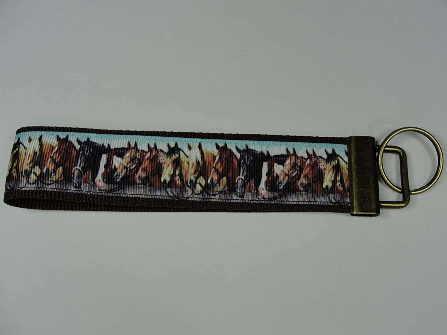 Horses Keyfob Strap or Keychain Purse or Wallet Strap