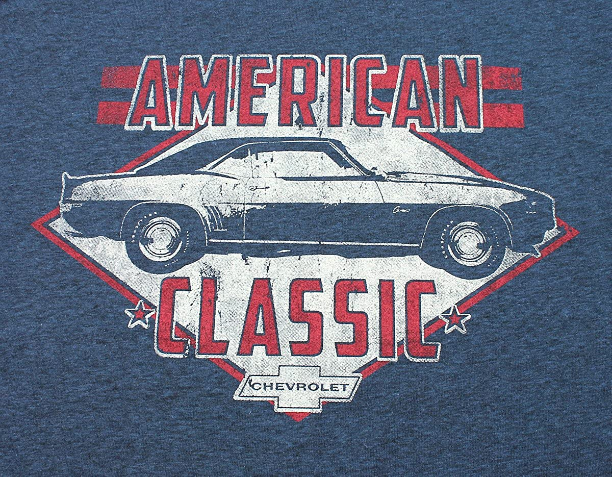Large Chevy Chevrolet American Classic Camaro Distressed Mens T-Shirt