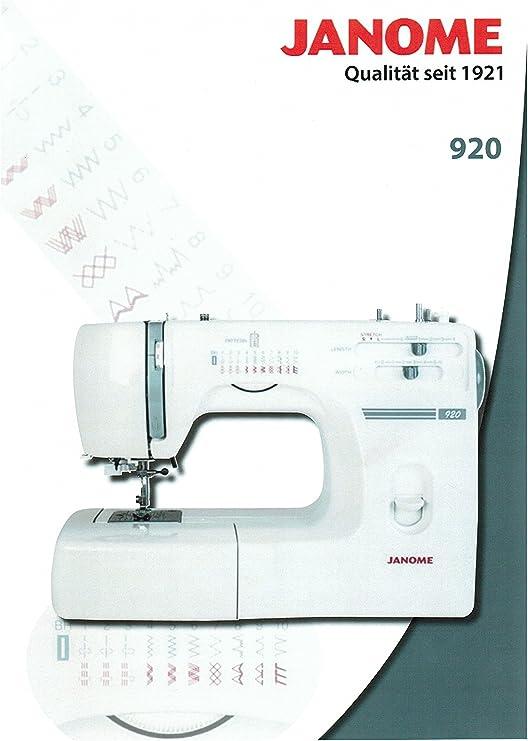 Máquina de coser Janome 920 modelo especial: Amazon.es: Juguetes y ...