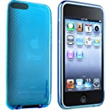 Insten TPU Rubber Skin Case for iPod touch 2G/3G (Clear Blue Concentric Circle)