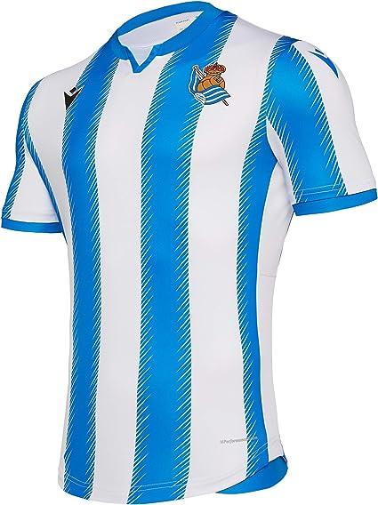 Macron Real Sociedad Primera Equipación 2019-2020, Camiseta, Blue ...