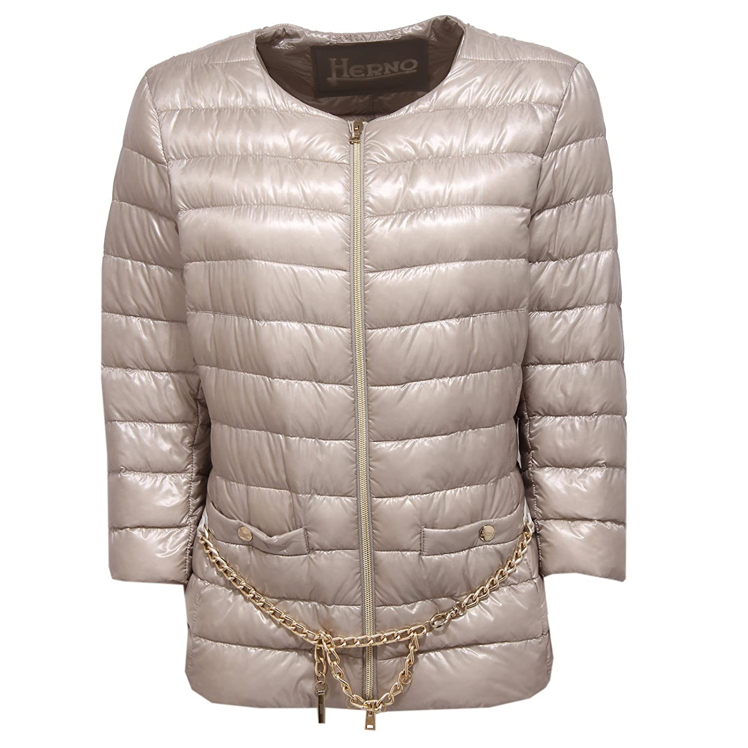 Herno 0507W piumino donna grey dove ultra light jacket woman: Amazon.es: Ropa y accesorios