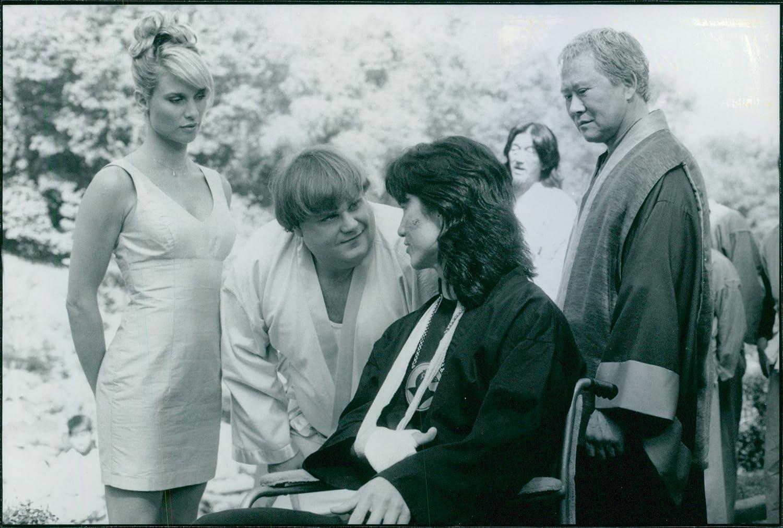 Vintage photo de Nicollette Sheridan, Chris Farley, Robin ...