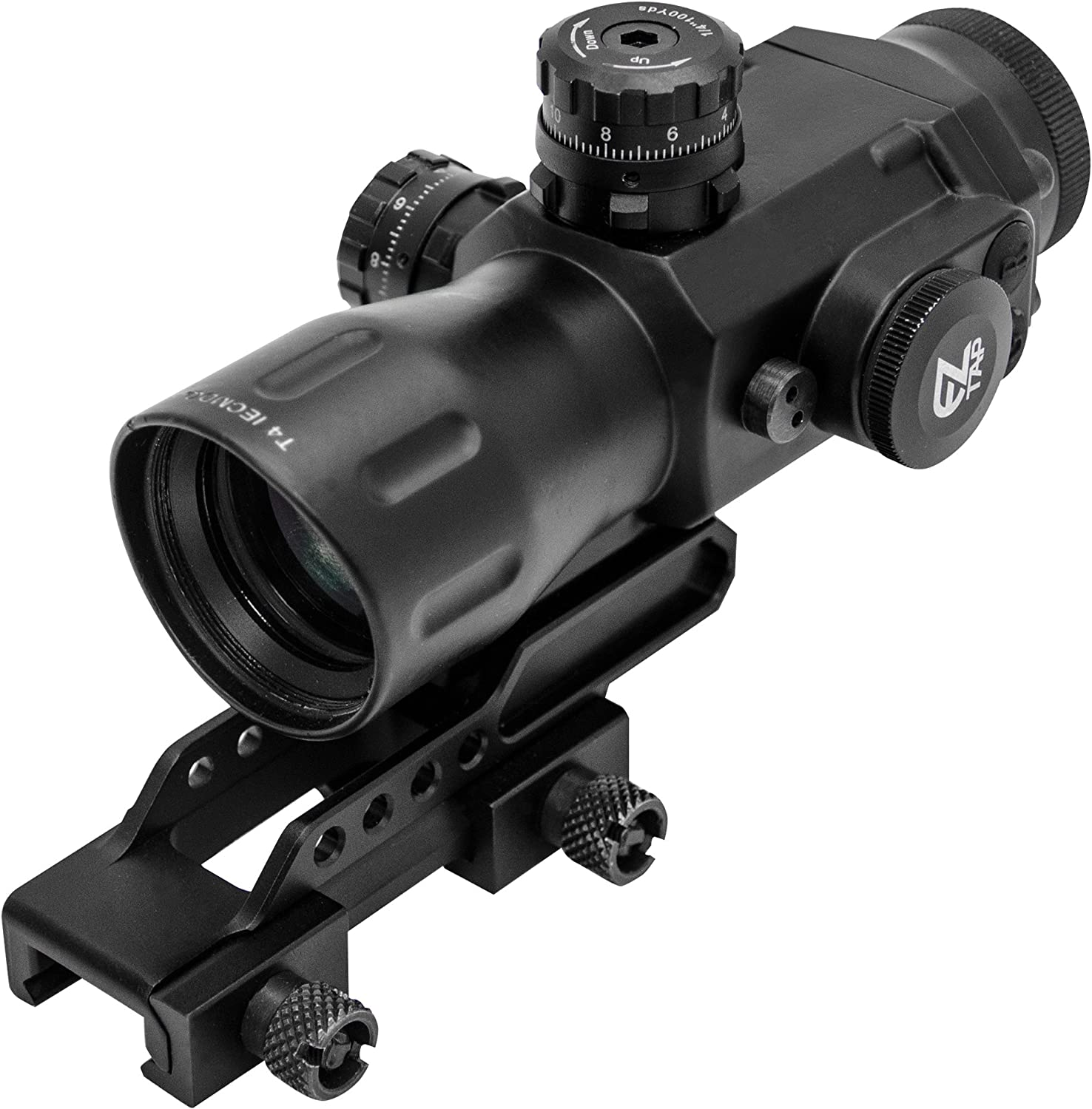 UTG Compact Prismatic 4×32 T4x Glass T-Dot Scope