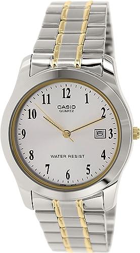 CASIO 19435 MTP-1141G-7B - Reloj Caballero Cuarzo Brazalete metálico dial Gris: Amazon.es: Relojes