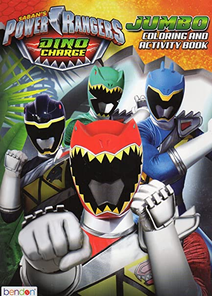 Amazon.com: Power Rangers Dino Charge Jumbo Coloring & Activity Book - V2:  Toys & Games