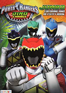 Power Rangers Dino Charge Jumbo Coloring Activity Book