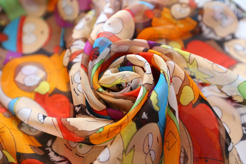 DAPENG Women Girl Chiffon Skull Printed Long Soft Scarf Shawl