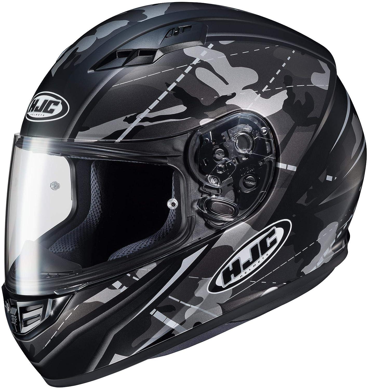 Black//Grey//Hi-Viz Medium 140-733 HJC Helmets Unisex-Adult Full-face-Helmet-Style CS-R3 Songtan