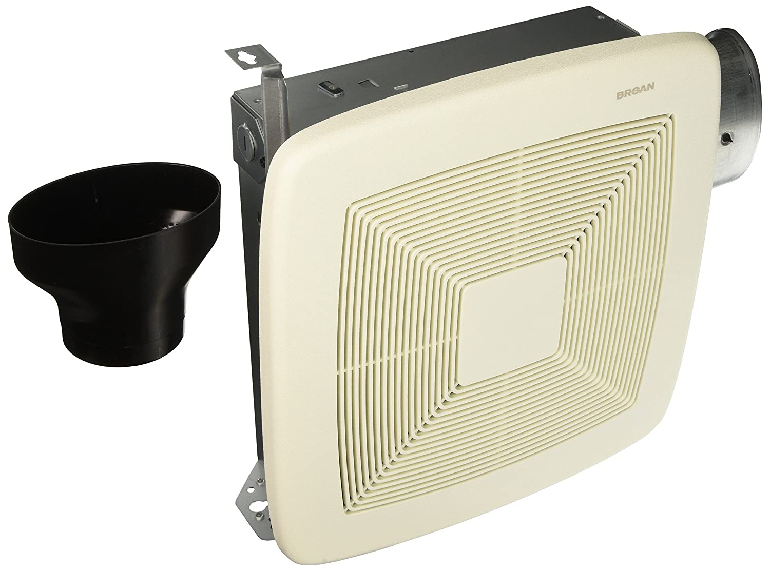 Broan-NutoneLP80LoProfile Ventilation Fan, Wall- or Ceiling-Mount Exhaust Fan for Bathroom and Home, 1.0 Sones, 80 CFM