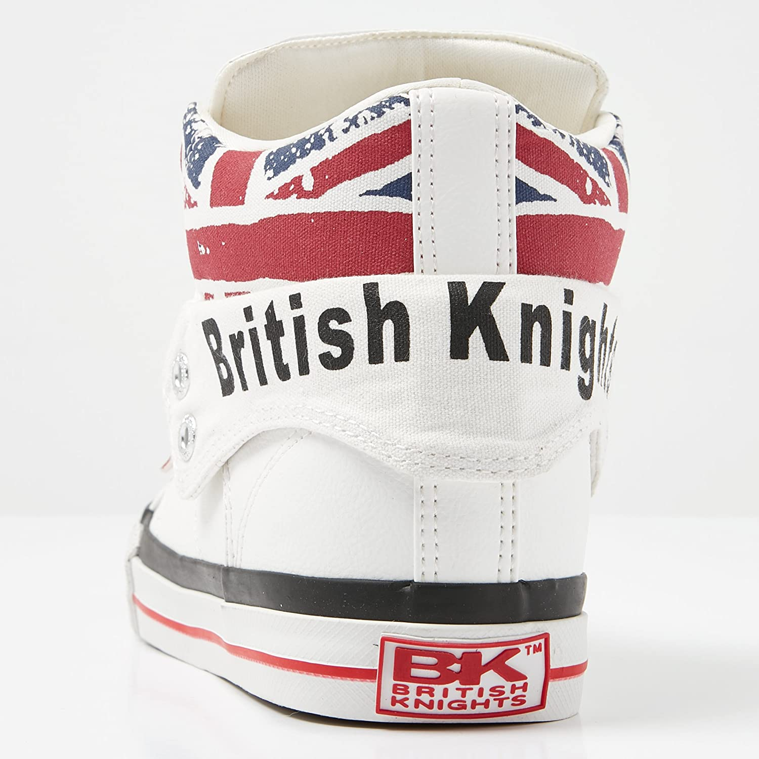 British Knights Roco, Basses Mixte Adulte Blanc White Union Jack 1