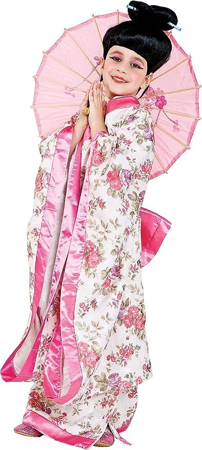chiber Disfraces Disfraz de Japonesa para Niña (Talla 4 (3-4 años ...