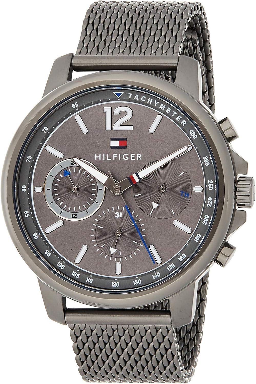 Tommy Hilfiger Reloj Multiesfera para Hombre de Cuarzo con Correa en Acero Inoxidable 1791530
