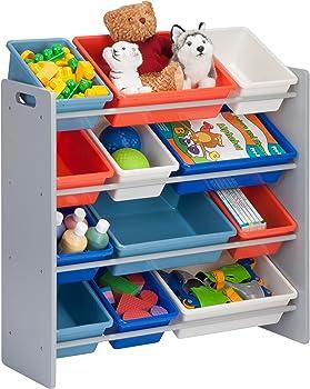 Honey-Can-Do SRT-01602 Kids Toy Organizer and Storage Bins