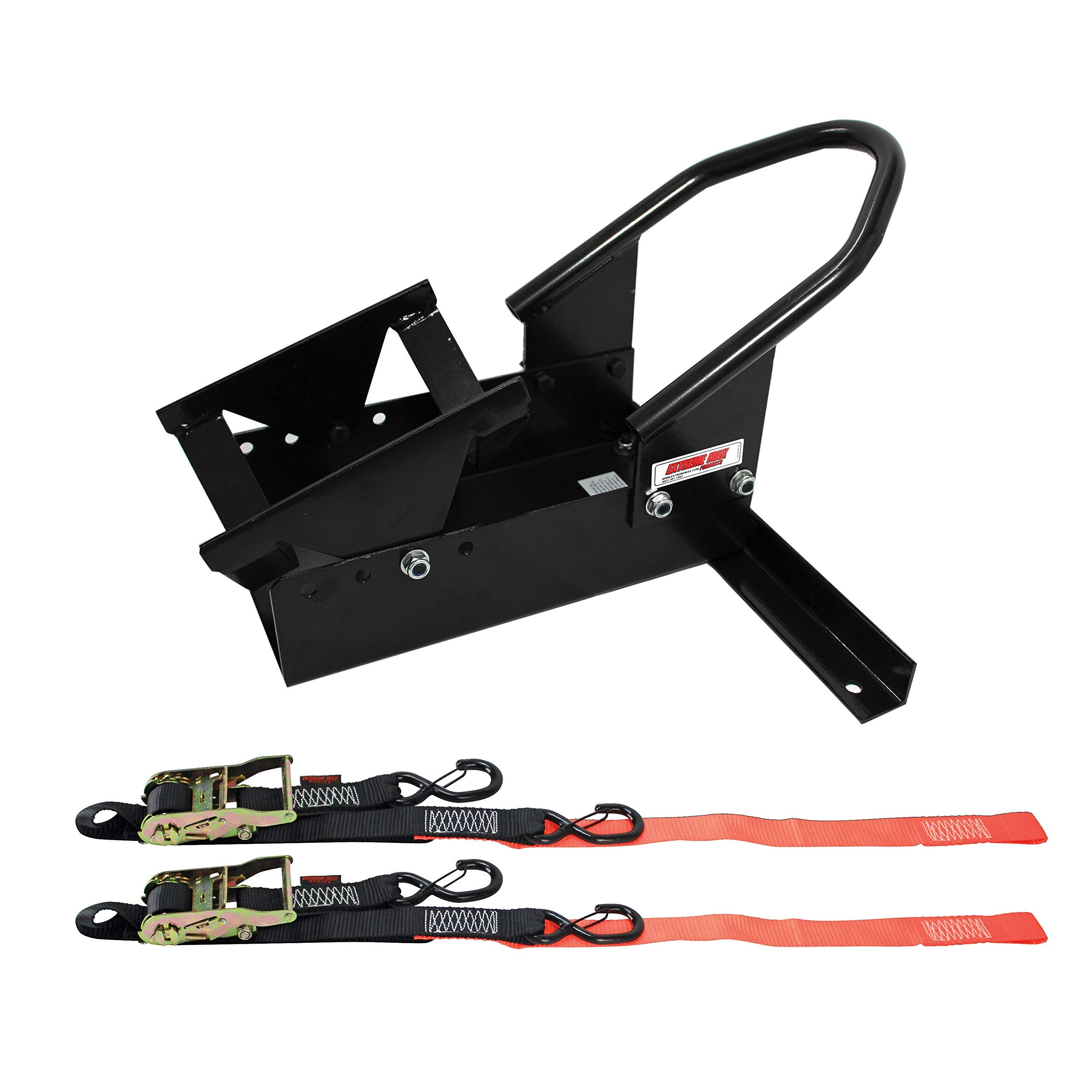 Extreme Max 5600.3204 Deluxe Motorcycle Wheel Chock / Tie-Down Kit (Renewed) by Extreme Max