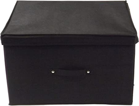 Neusu Jumbo Resistente Caja De Almacenaje Plegable De Color Negro - 50 cm x 40 cm x