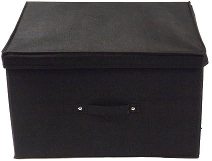 Neusu Jumbo Resistente Caja De Almacenaje Plegable De Color Negro - 50 cm x 40 cm