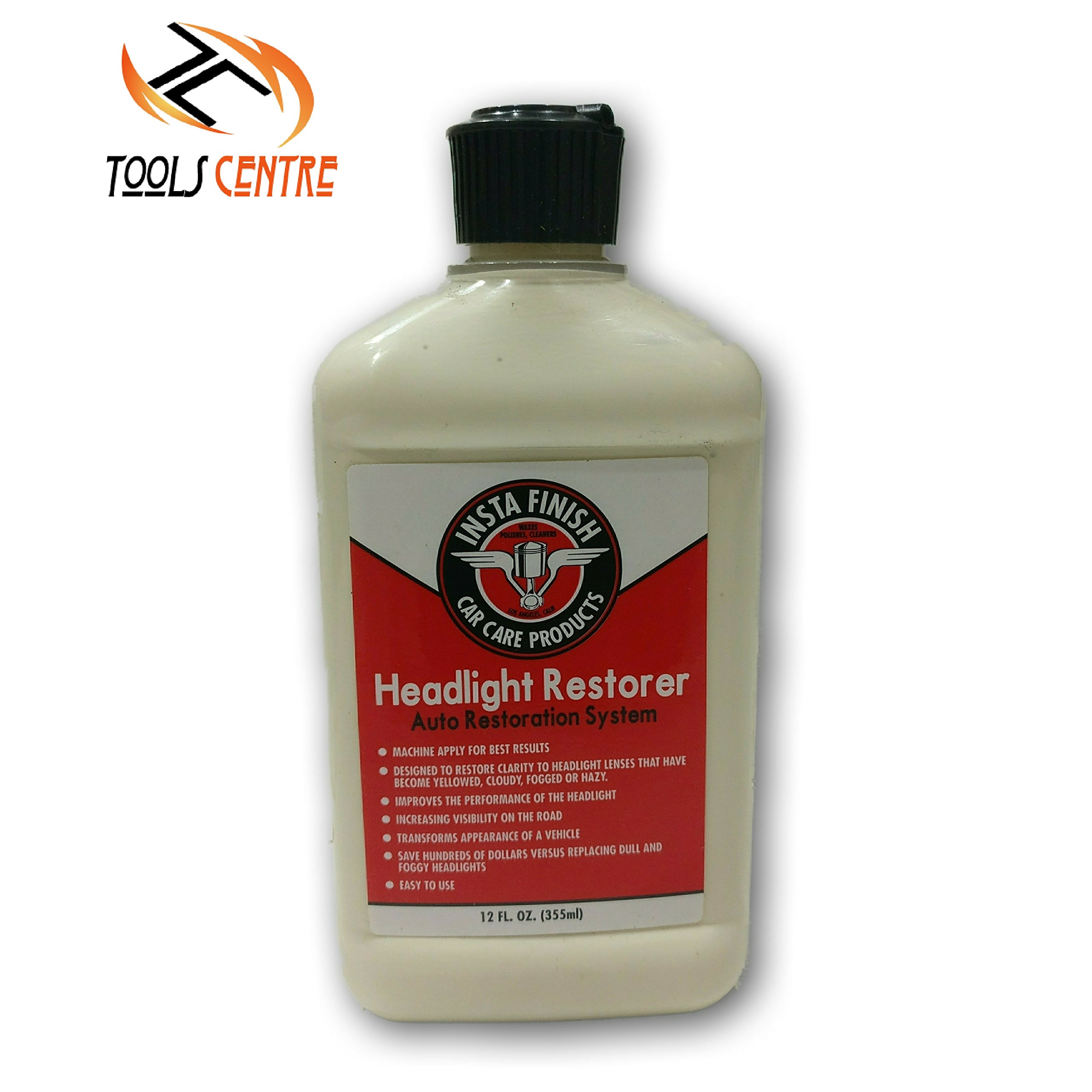 Tools Centre Insta Finish Head Light Restorer Car Care Auto Restoration Designed To Restore Clarity To Headlight Lenses. by Tools Centre