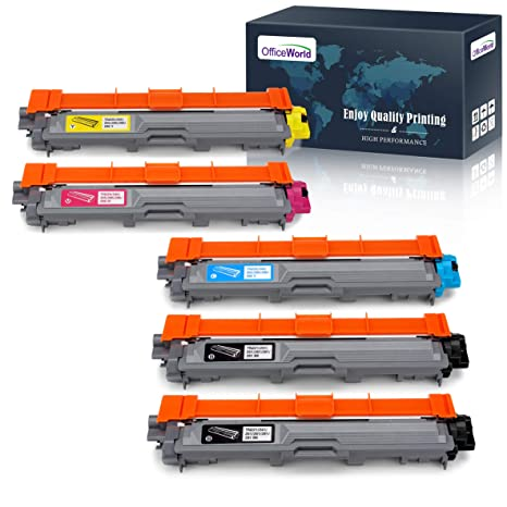 OfficeWorld Compatible Toner Cartridge Replacement for Brother TN221 TN225 TN-221 TN-225 Work with Brother MFC-9130CW HL-3170CDW HL-3140CW MFC-9330CDW ...