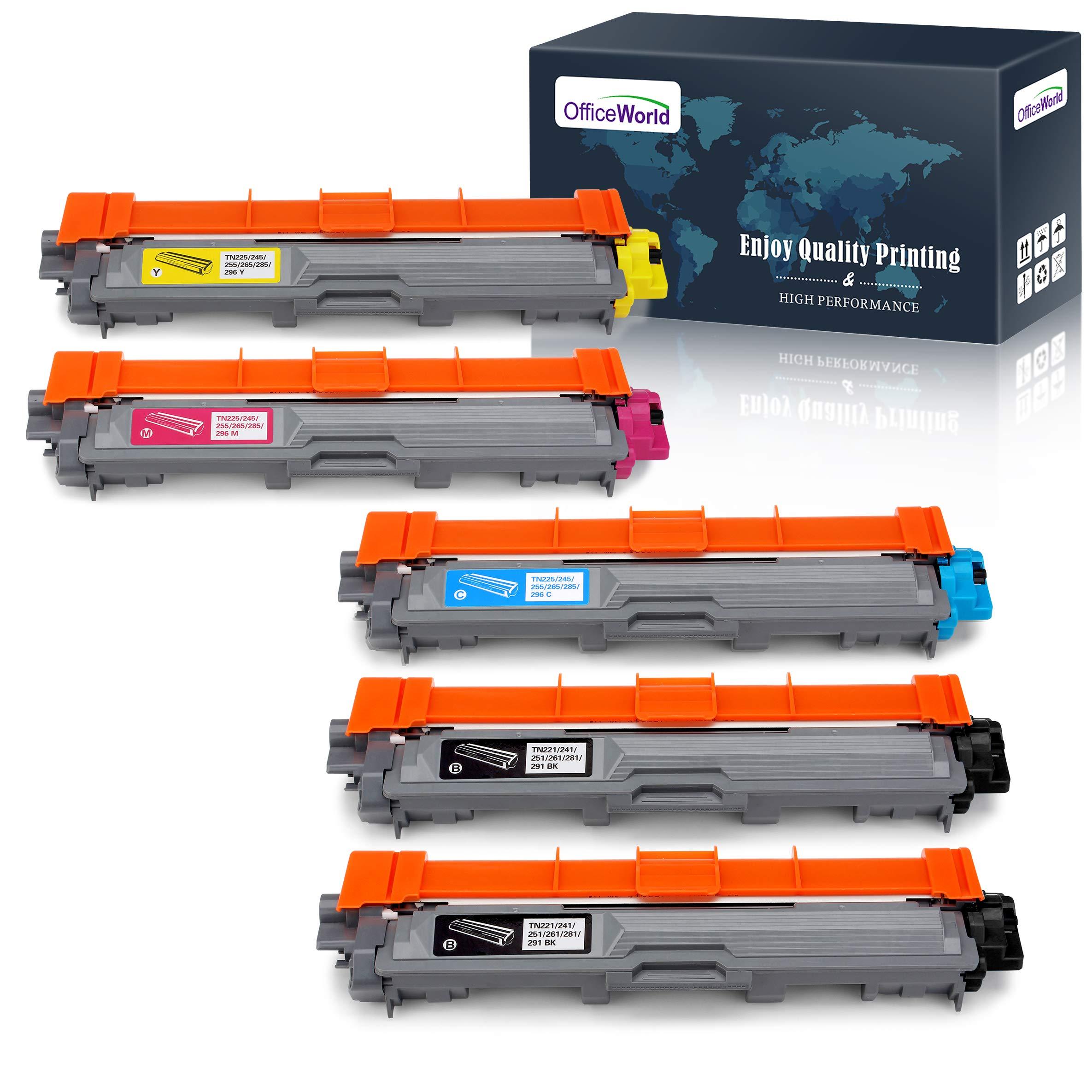 Toner Alternativo ( X5 ) 4 Colores Tn221 Tn225 Tn-221 Tn-225 Mfc-9130cw Hl-3170cdw Hl-3140cw Mfc-9330cdw 2