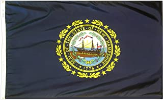 product image for Annin Flagmakers Model 143460 New Hampshire State Flag 3x5 ft. Nylon SolarGuard Nyl-Glo 100% Made in USA to Official State Design Specifications.