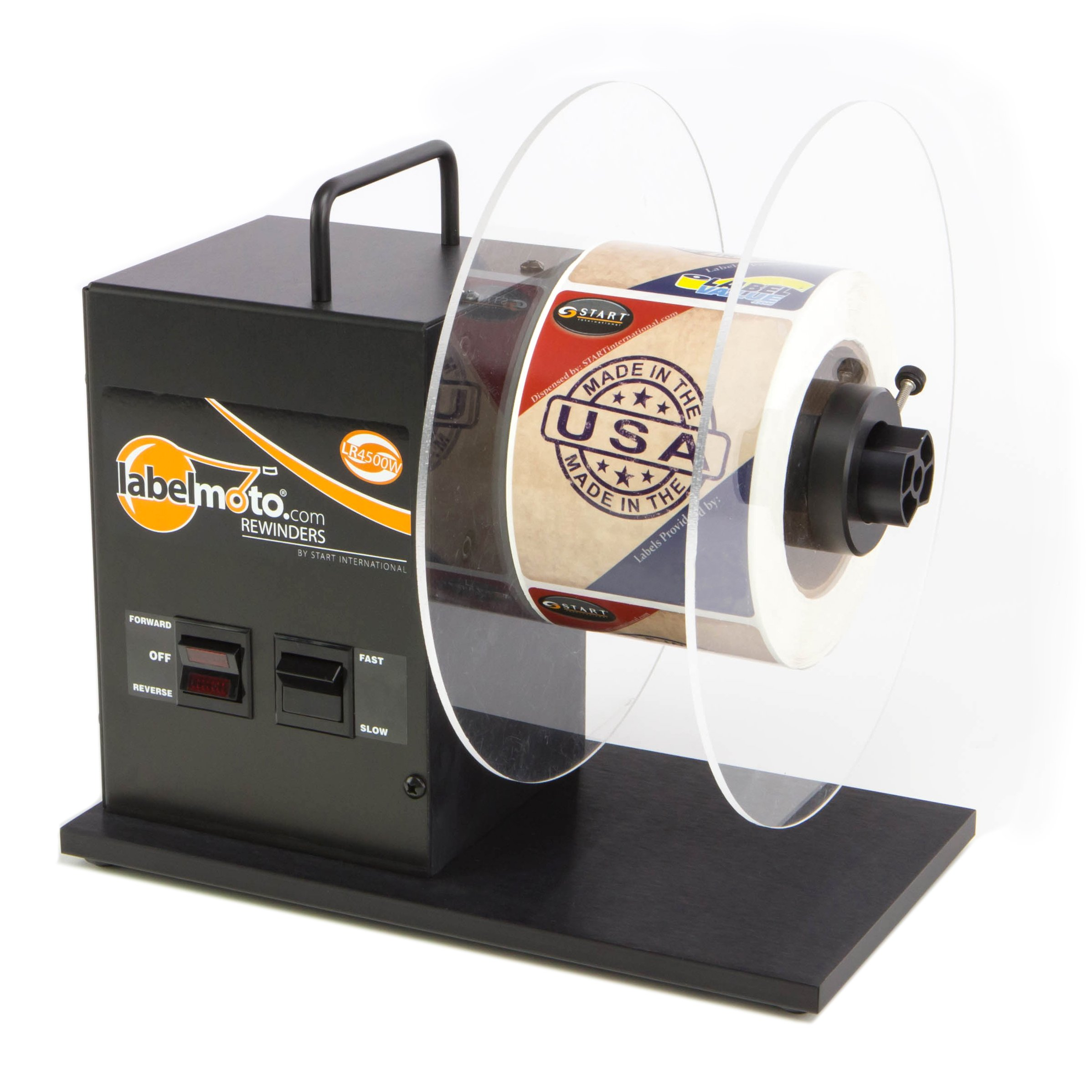 START International LR4500 Bidirectional Label Rewinder, 9'' Roll Capacity