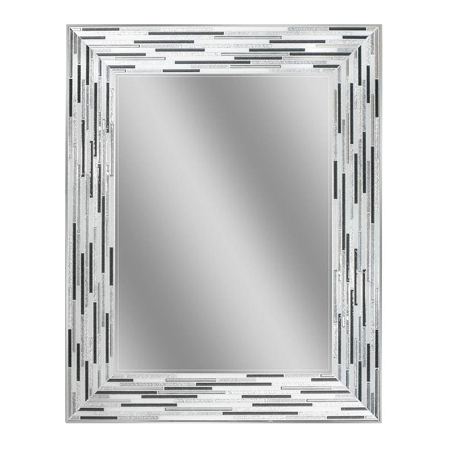 Headwest Reeded Charcoal Tiles Wall Mirror, 30 x 24 30 x 24 Headwest Inc 1220