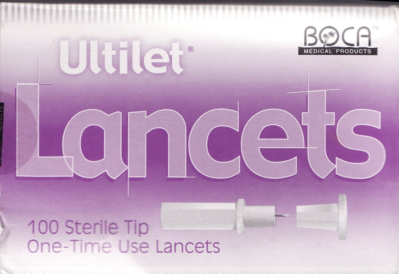 Ultilet 100 Sterile Tip One-Time Use Lancets