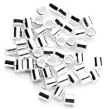 Cousin 2mm Sterling Silver Crimp Bead - 50pc