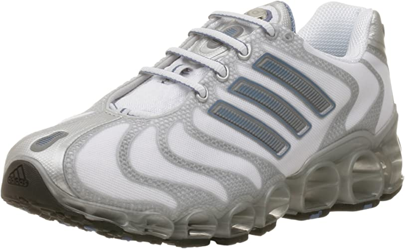 Favor Ganar control sátira  adidas Men's a3 Gigaride Running Shoe, White/Blue/Silver, 18 M:  Amazon.co.uk: Shoes & Bags