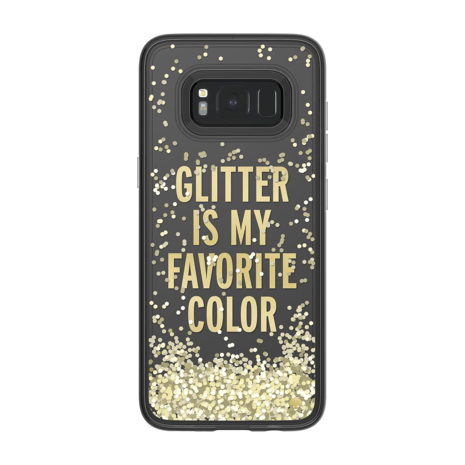 sports shoes fffb1 2810b kate spade new york Liquid Glitter Case for Samsung Galaxy S8 - Glitter is  My Favorite Color/Chunky Gold Glitter/Clear
