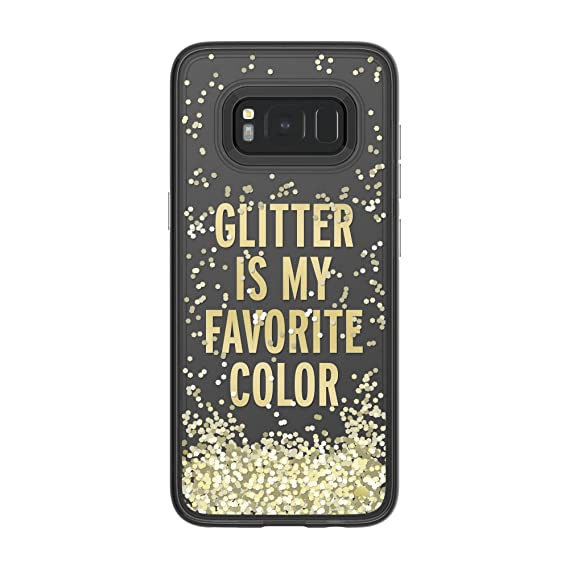sports shoes b7ccf 3f3ee kate spade new york Liquid Glitter Case for Samsung Galaxy S8 - Glitter is  My Favorite Color/Chunky Gold Glitter/Clear