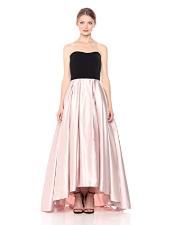 Betsy & Adam Women\'s Strapless Velvet and Satin Ball Gown at Amazon ...