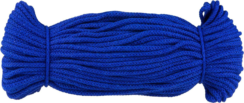 e-kurzwaren 3mm x 50m Baumwollkordel Baumwolle Schnur 5mm x 50m Oder 5mm x 100m Dekoration