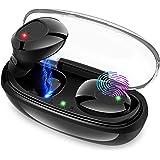 【2019最新版Bluetooth 5.0】Bluetooth イヤホン 高音質 完全ワイヤレス ヘッドセット 自動ペアリング マイク内蔵 ノイズキャンセリング 片耳 両耳 軽量 各機種対応 Siri対応 IPX5防水 技適認証済 iPhone/iPad/Android対応