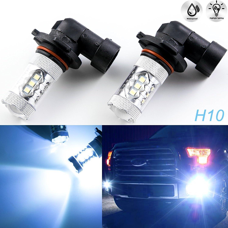 Cadillac SRX White 4-LED Xenon Bright ICE Side Light Beam Bulbs Pair Upgrade