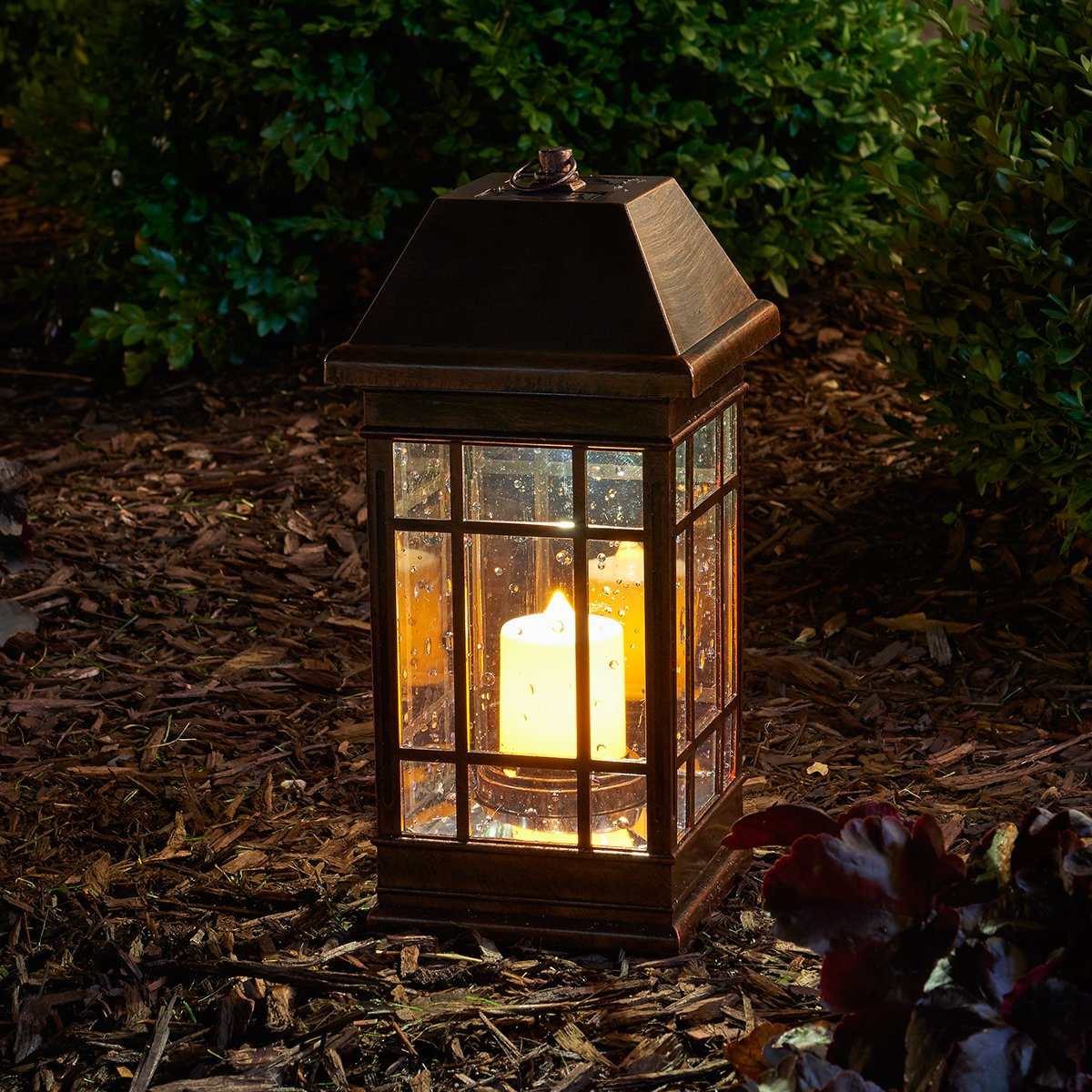 outdoor candle lighting.  lighting ii solar mission lantern illuminated by 2 high performance warm white  leds in the top and one amber led in the pillar candle  outdoor post lights for lighting