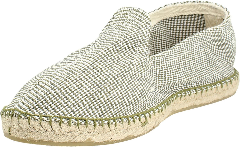 Alpargata Espiga Pata de Gallo Kaki Hombre: Amazon.es: Zapatos y ...