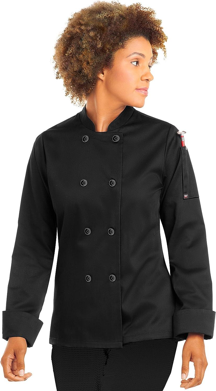 ChefUniforms.com Women's Classic Long Sleeve Chef Coat (S-5X, 2 Colors)