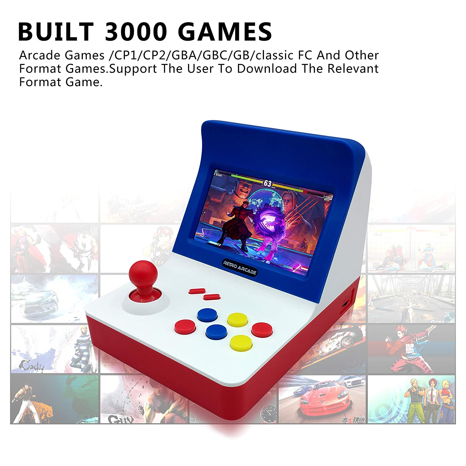 Best handheld game console video game 4. 3 inch 8gb with hundreds.