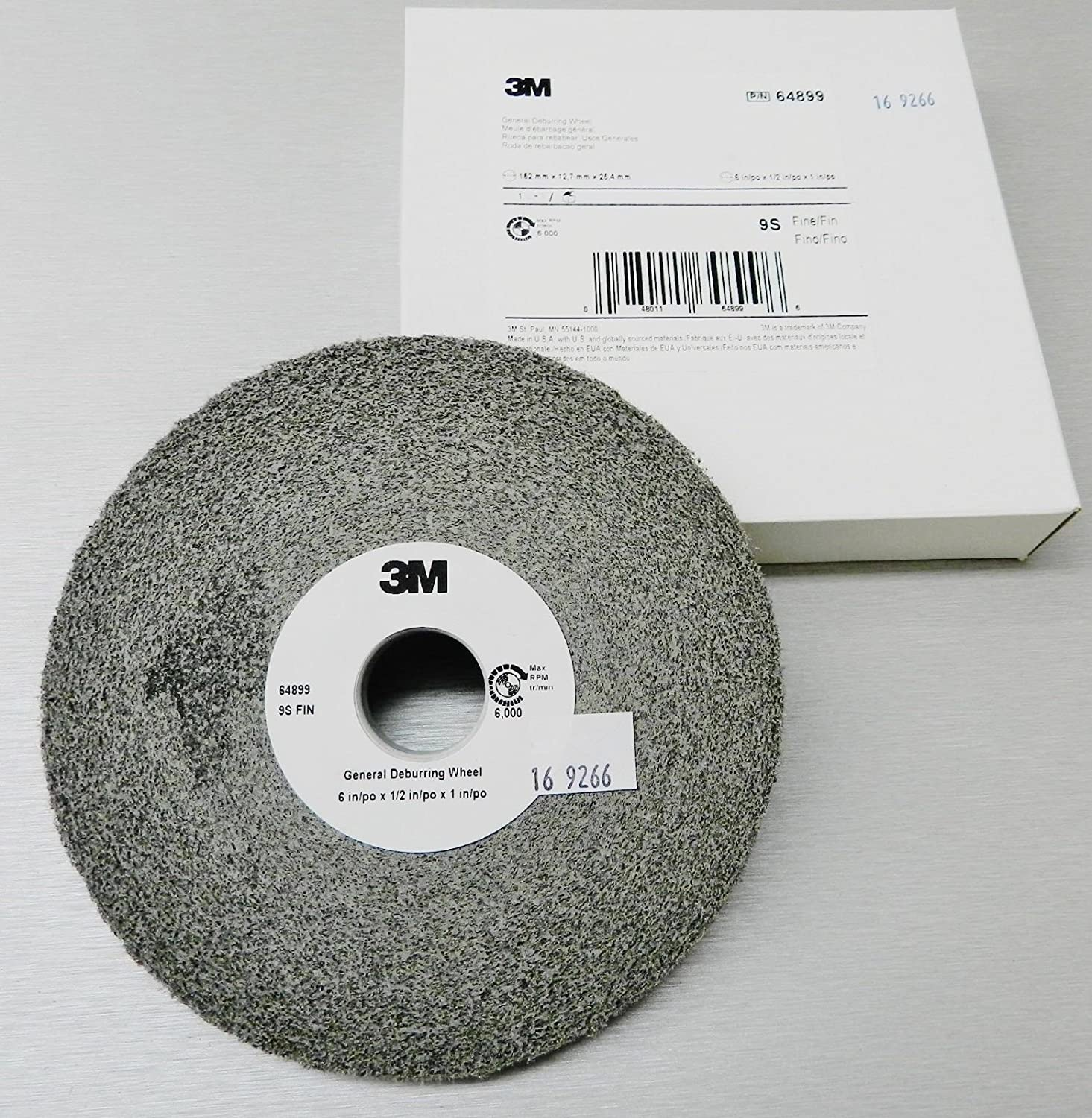 3M Deburring Wheel General Purpose Wheel 6x1//2 9S-FIN # 64899 Cleaning Finishing