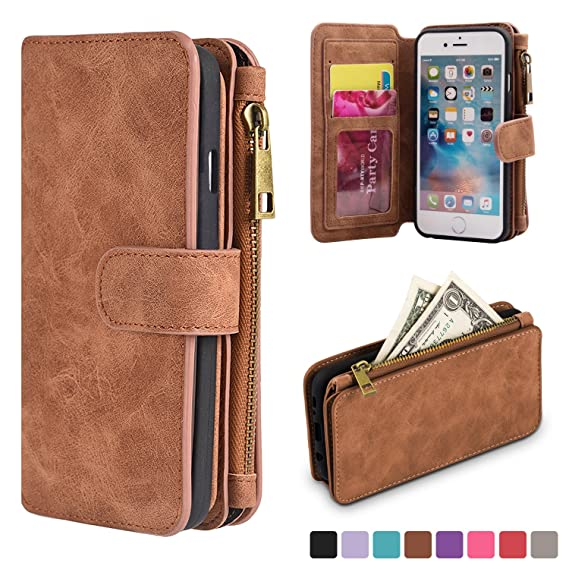 buy online 0fb4f 4dced Amazon.com: iPhone 6 Plus 6S Plus Wallet Case,kiwitatá Premium ...