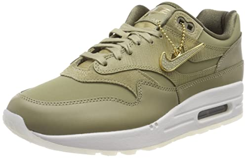 2cc8c84580 Nike Women's WMNS Air Max 1 PRM Gymnastics Shoes Green Neutral Olive/Me 205,