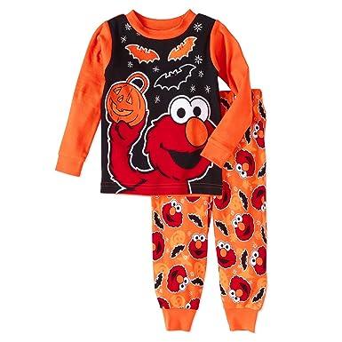 134eb4d3c7 Amazon.com  Sesame Street Elmo Halloween 2 Piece Baby Boys Pajama ...