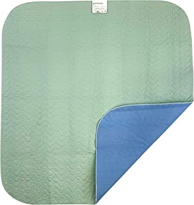 "Patient Aid 34"" x 36"" Bed Pad - Incontinence Mattress Bedding Protector Liner Underpad - Reusable, Washable, Waterproof - Adult & Children - Home Care & Hospital Use - Premium Quality"