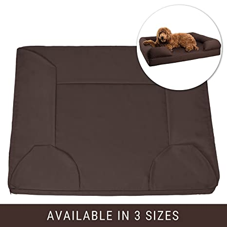 Petlo Brown Pet Sofa Bed Replacement Cover   Removable Water And Scratch  Resistant   Machine Washable