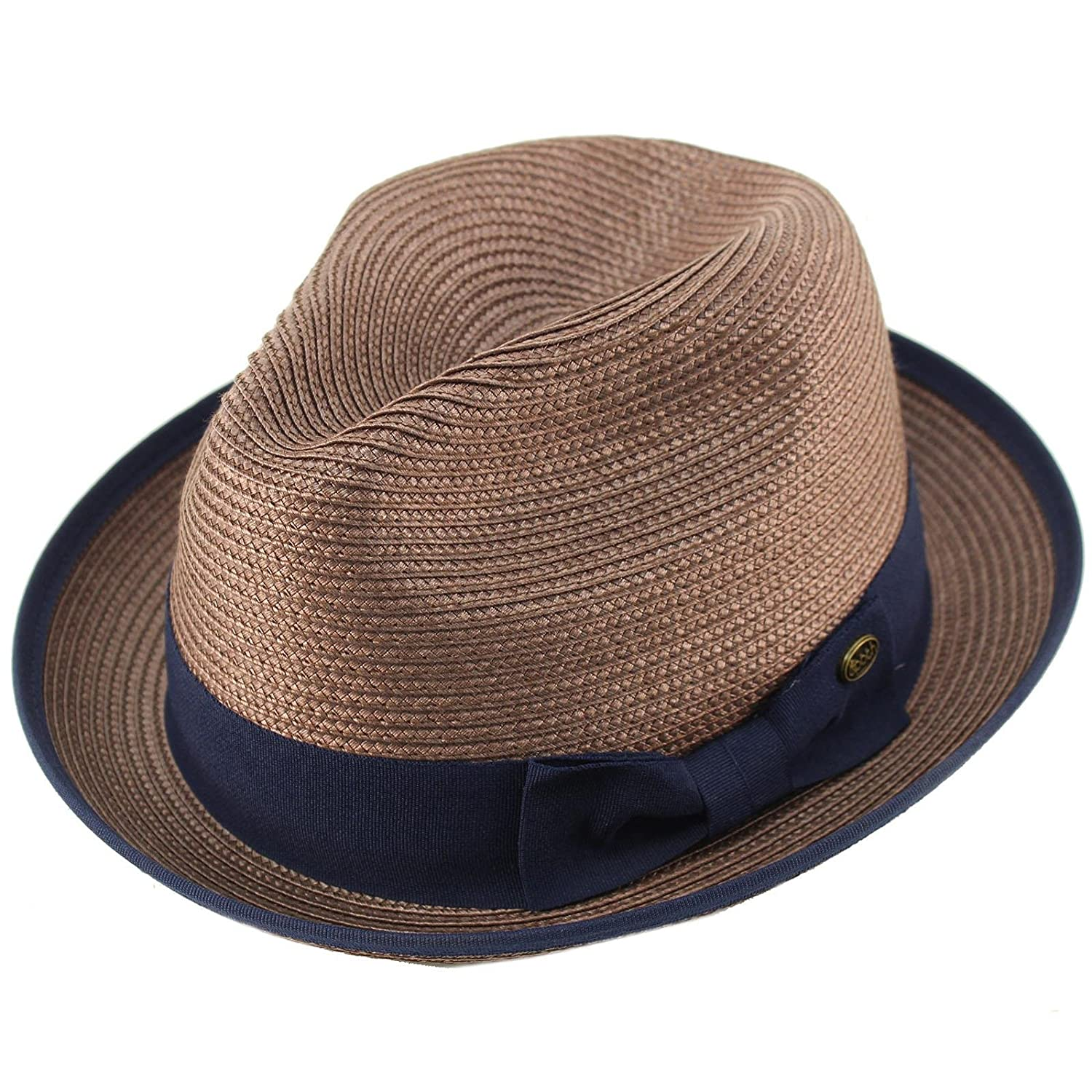 850733dfa91 Epoch Men's Classy Travel Crushable 2tone Derby Fedora Upturn Curl Brim Hat  at Amazon Men's Clothing store: