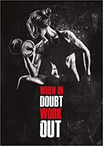 GREAT ART Motivational Workout Poster 23.4 x 16.5 in (59.4 x 42 cm) – Wall- and Fitness Poster Motivational Quotes Training Gym – When in Doubt Work Out – Nr.5